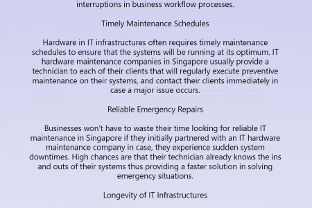 How IT Maintenance Services Can Improve Business Processes and Workflow Infographic
