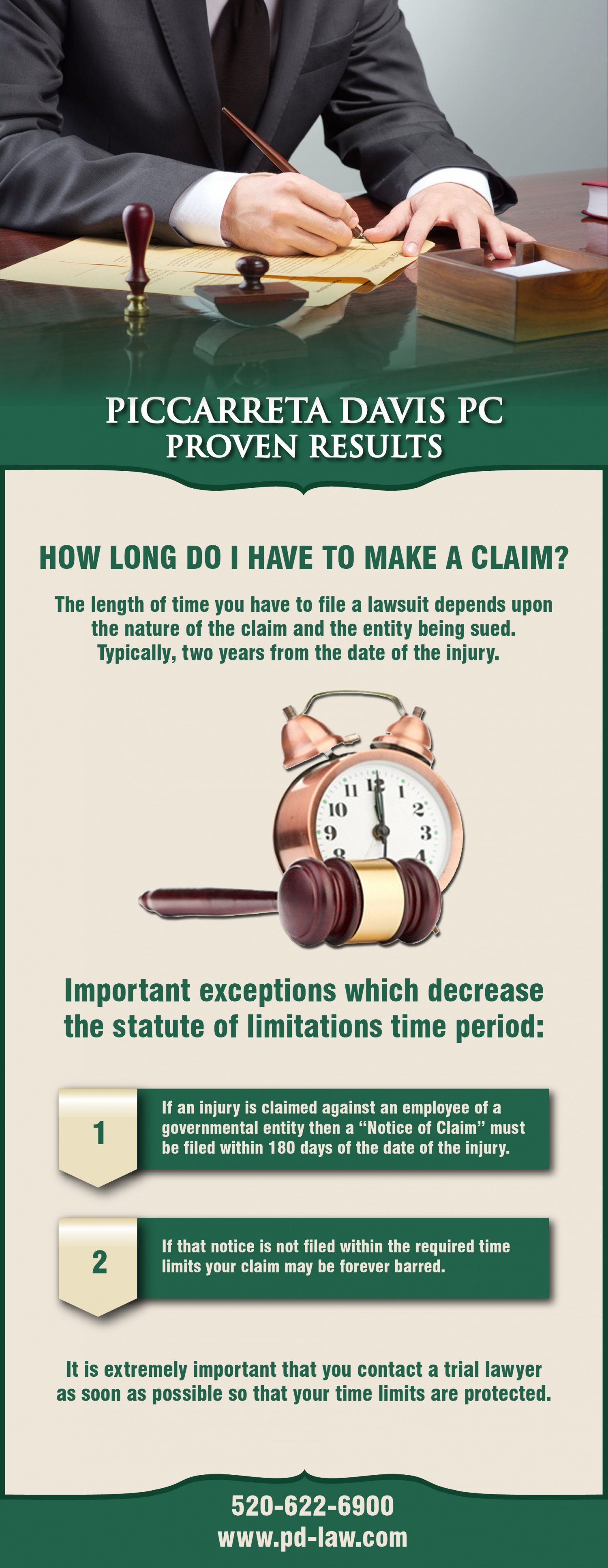 How Long Do I Have to Make A Claim? Infographic