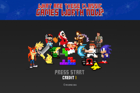 How Much $ Retro Video Games Are Worth Now? Thousands Infographic