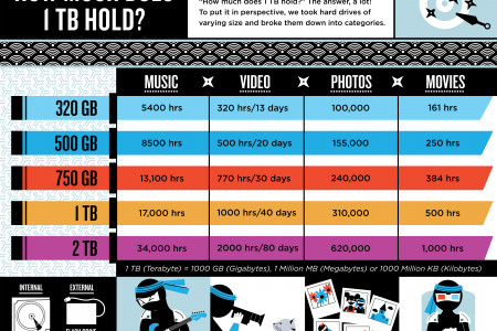 How much can 1TB Hold Infographic