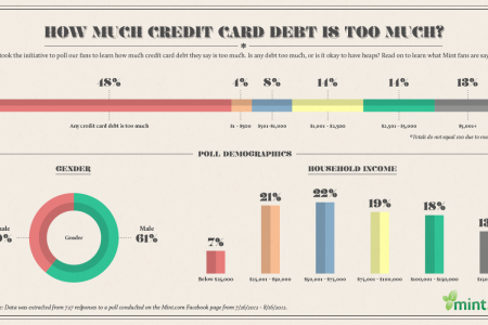 How Much Credit Card Debt is Too Much? Infographic