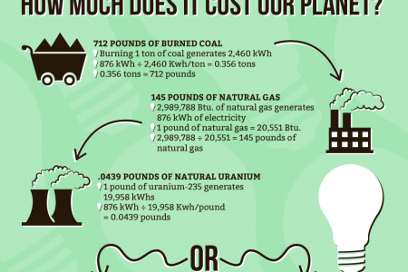 How Much Does it Cost to Power a Lightbulb for a Year? Infographic