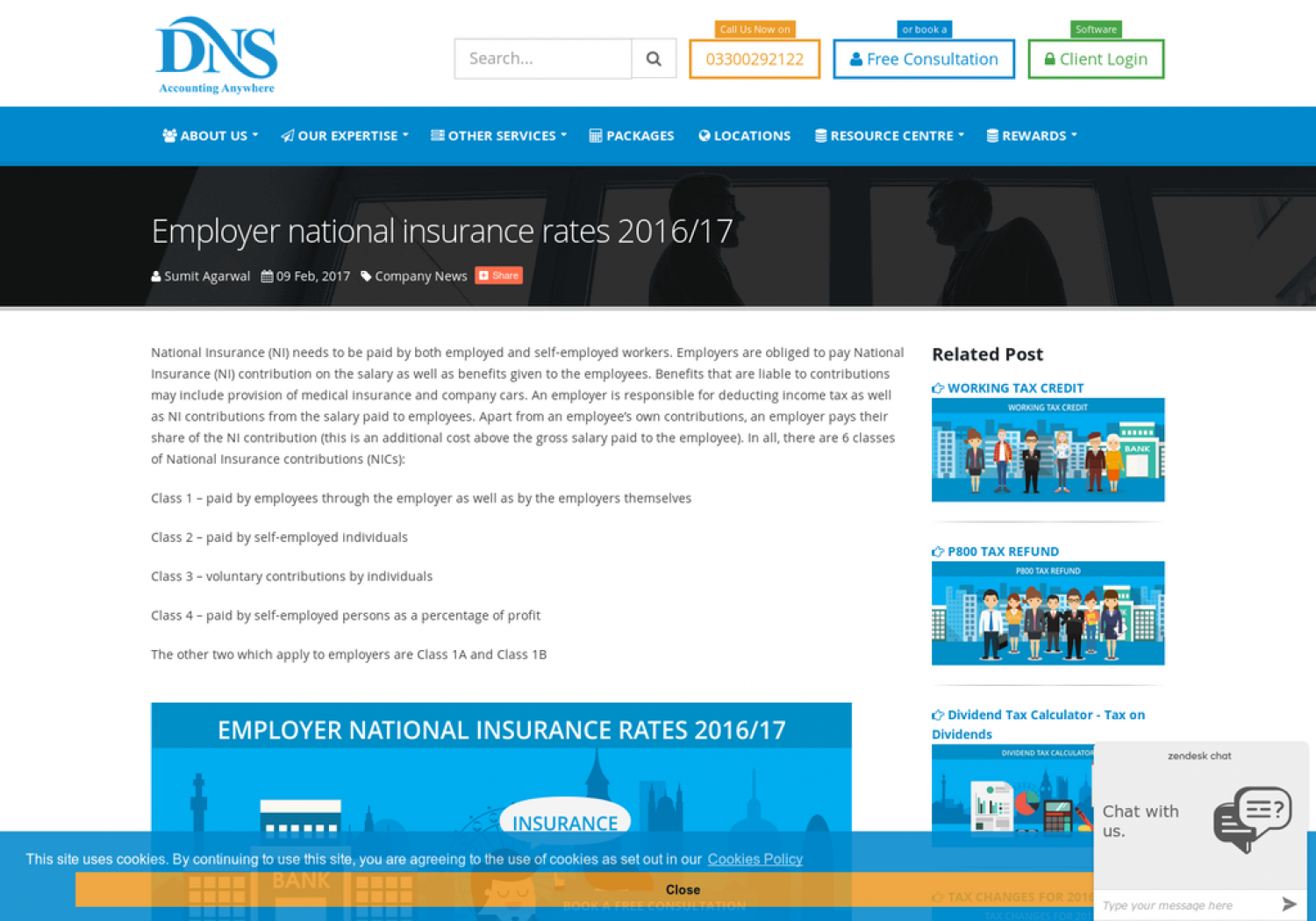 How Much Employer National Insurance Rates? Infographic