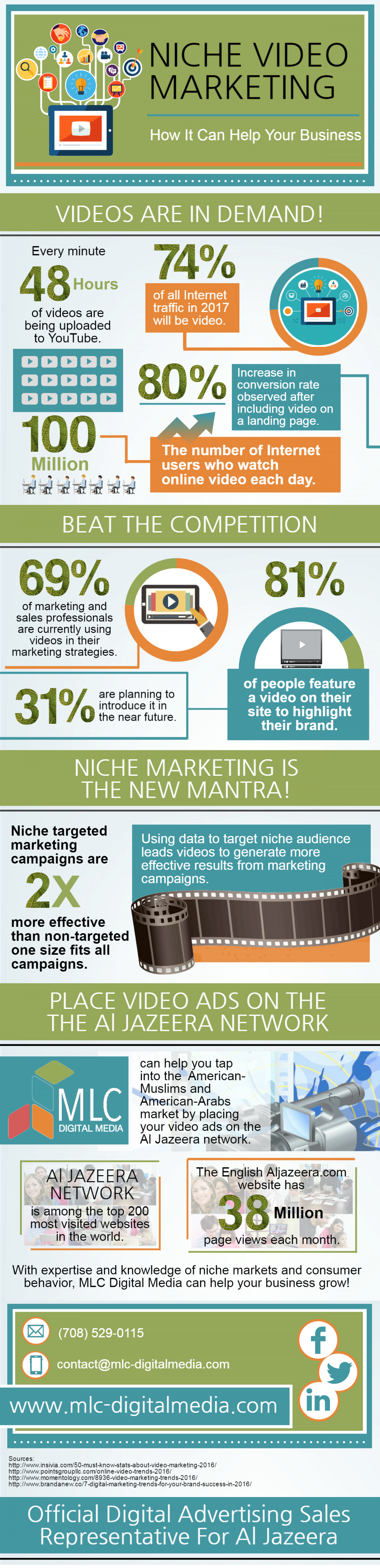 How Niche Video Marketing Can Help Your Bussiness Infographic