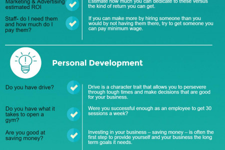 How Personal Trainers Will Know When They're Ready to Open a Gym Infographic