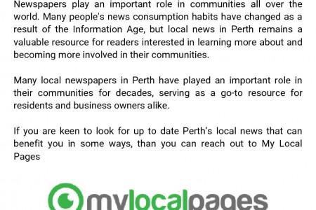 How Perth's local news plays a vital role for the new age?  Infographic