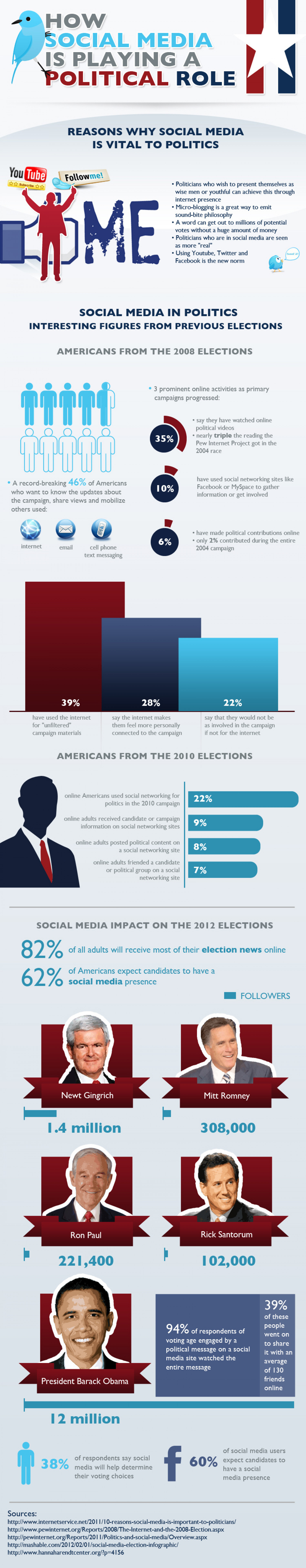 How Social Media is Playing a Political Role Infographic