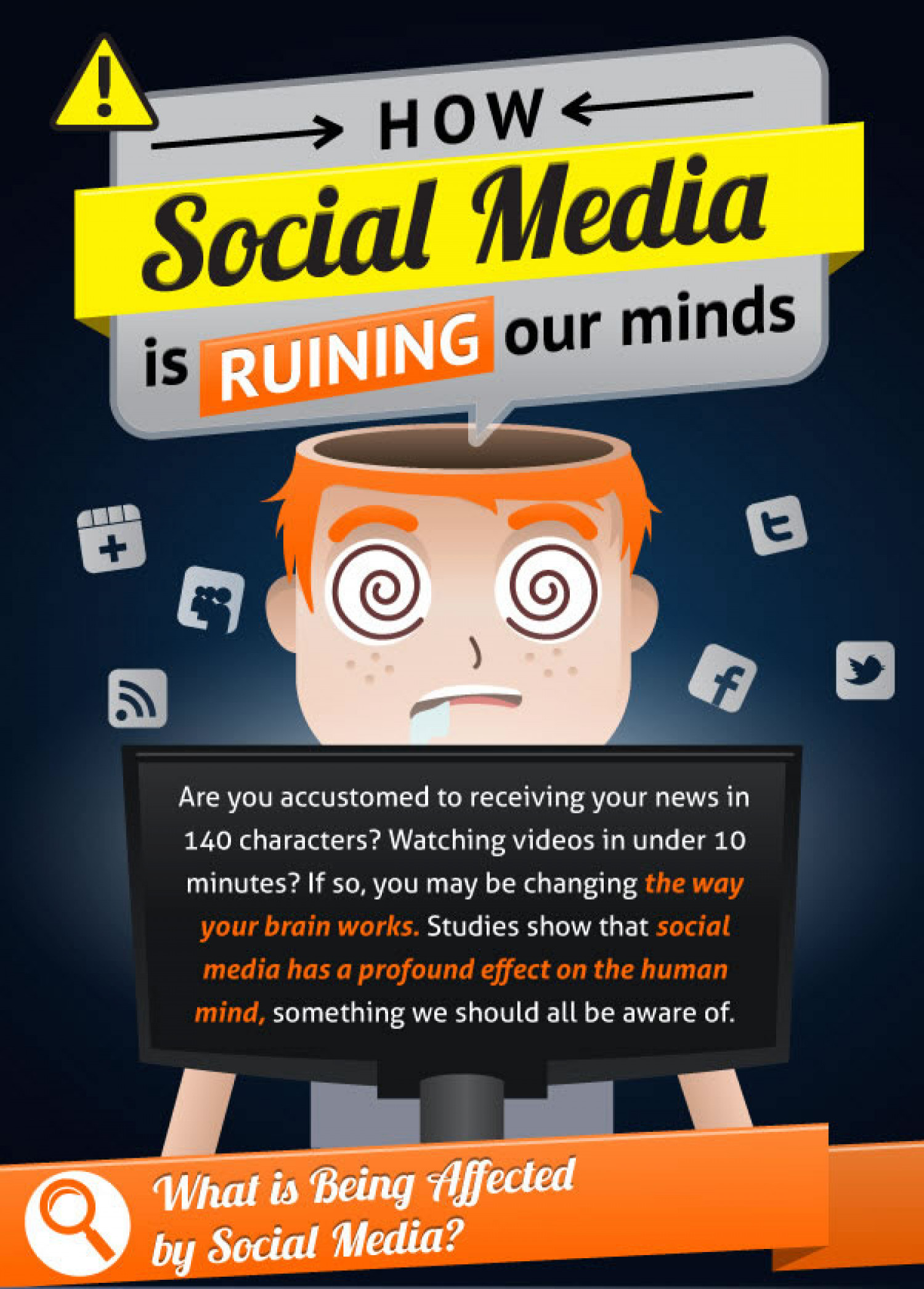 How Social Media is Ruining our Minds Infographic