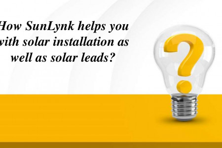 How SunLynk helps you with solar installation as well as solar leads? Infographic