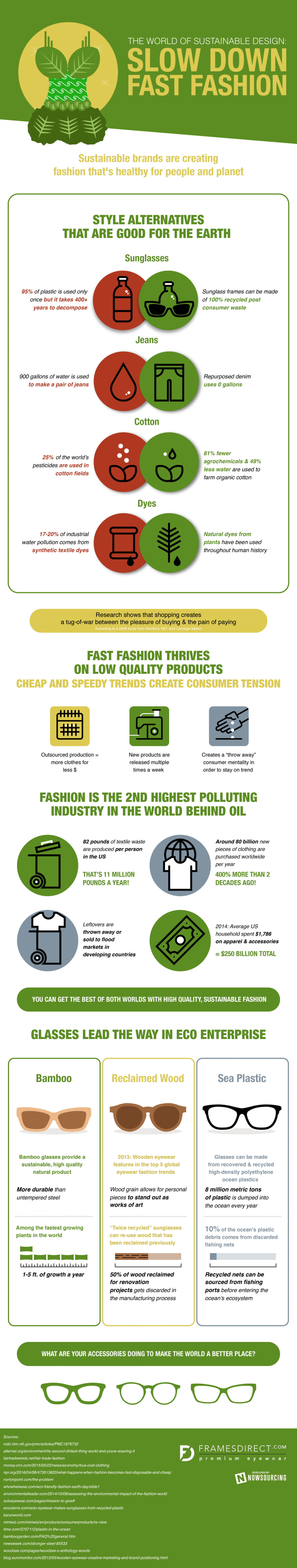 How Sustainability Can Help Your Wardrobe Pollute Less Infographic