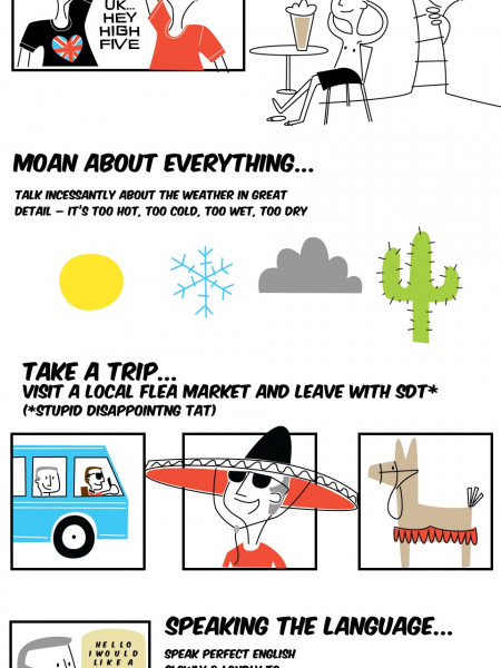 How the British Do Holidays Infographic