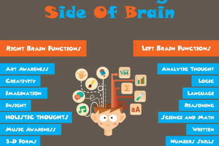 How The Left And Right Side Of Brain Are Different Infographic