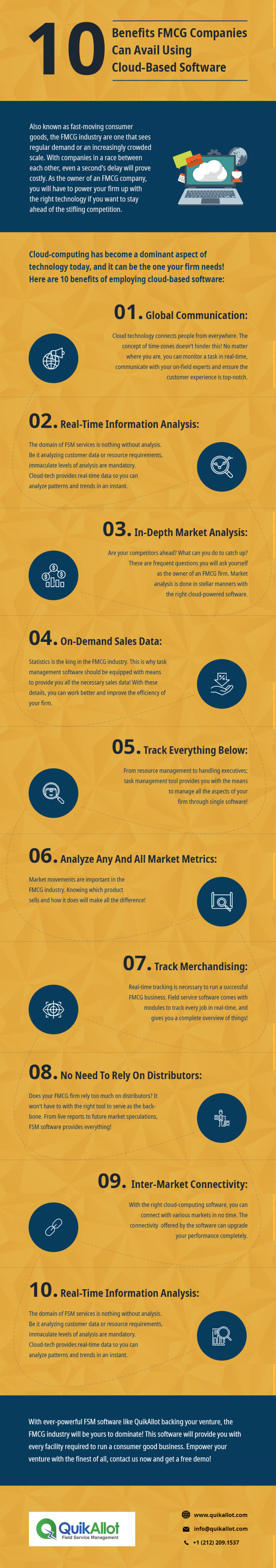 How The Right Cloud Technology-Powered Software Can Help An FMCG Company Infographic