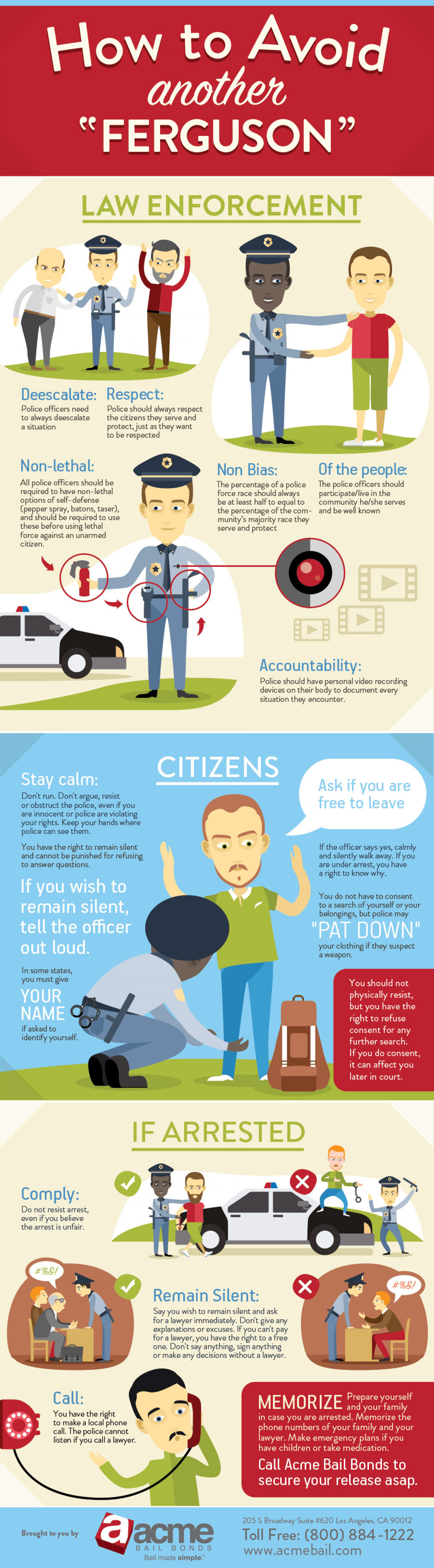 "How to avoid another ""Ferguson"" Infographic"
