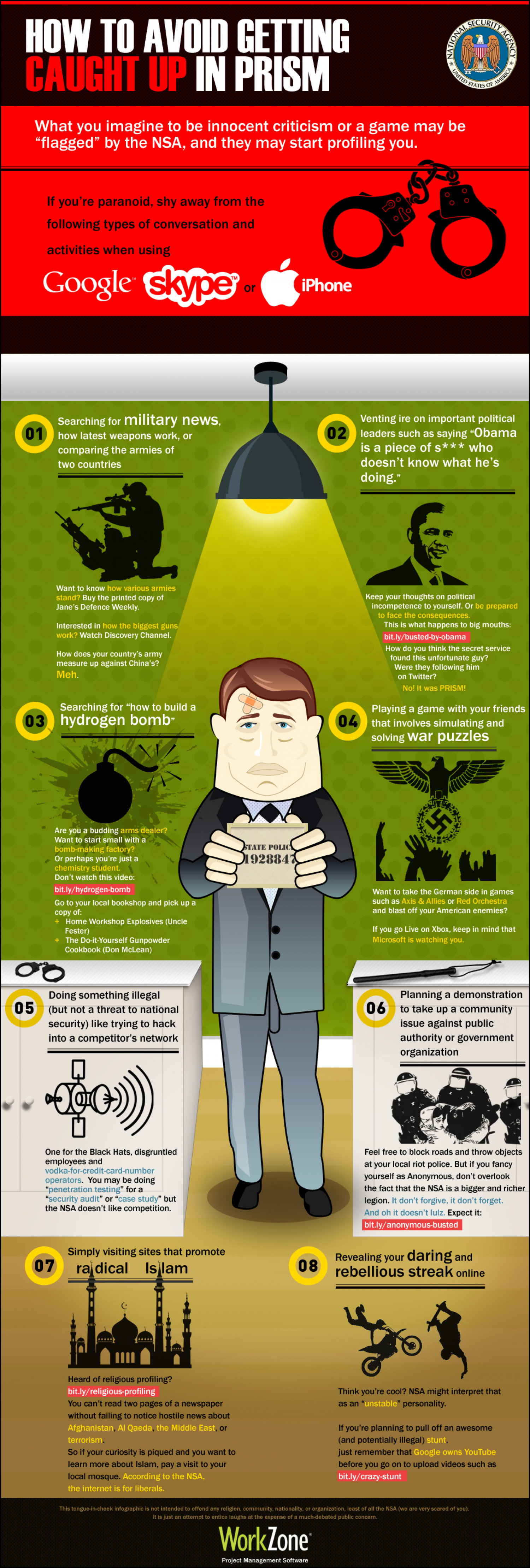 How to Avoid Getting Caught Up in PRISM Infographic