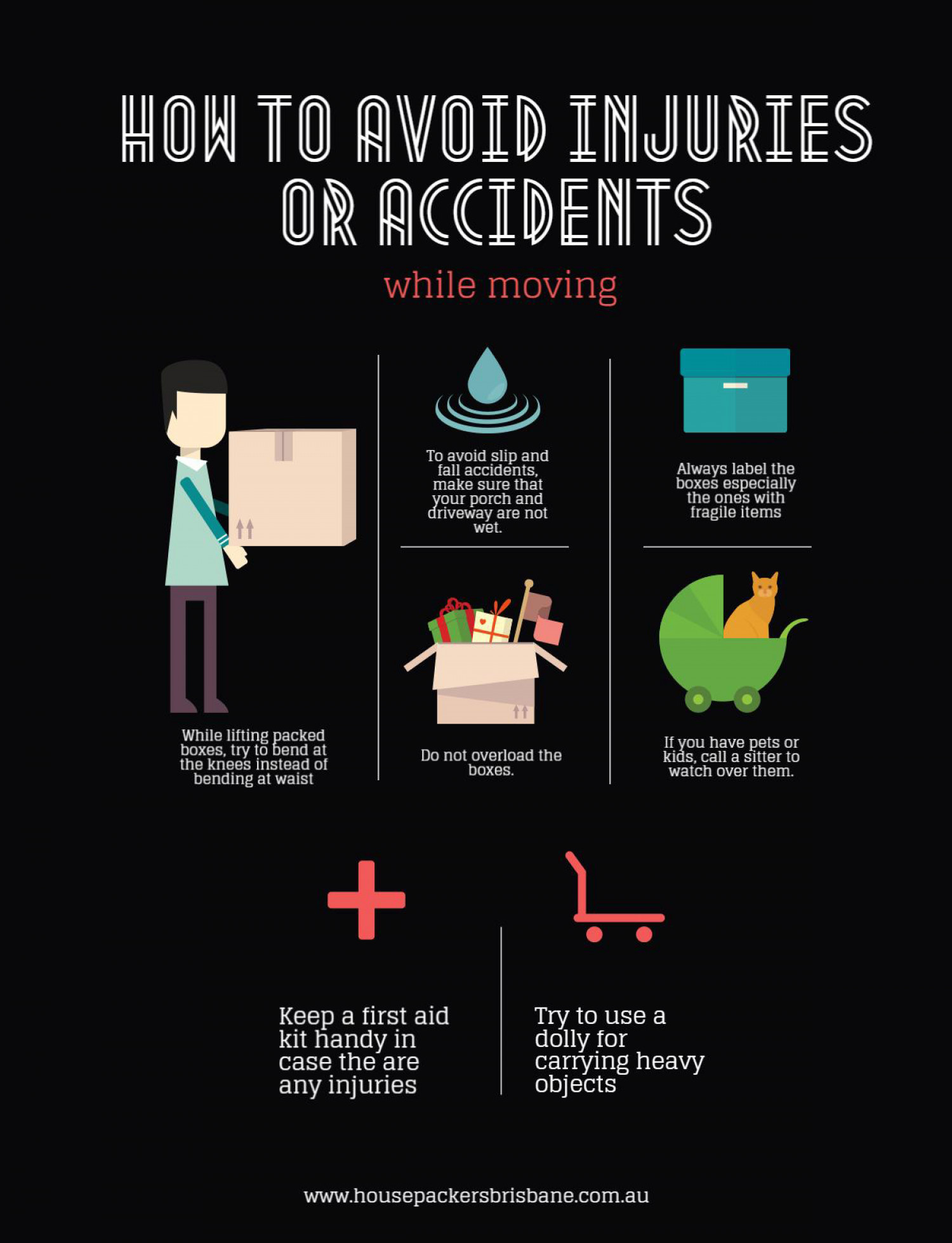 How to Avoid Injuries or Accidents while Moving Infographic
