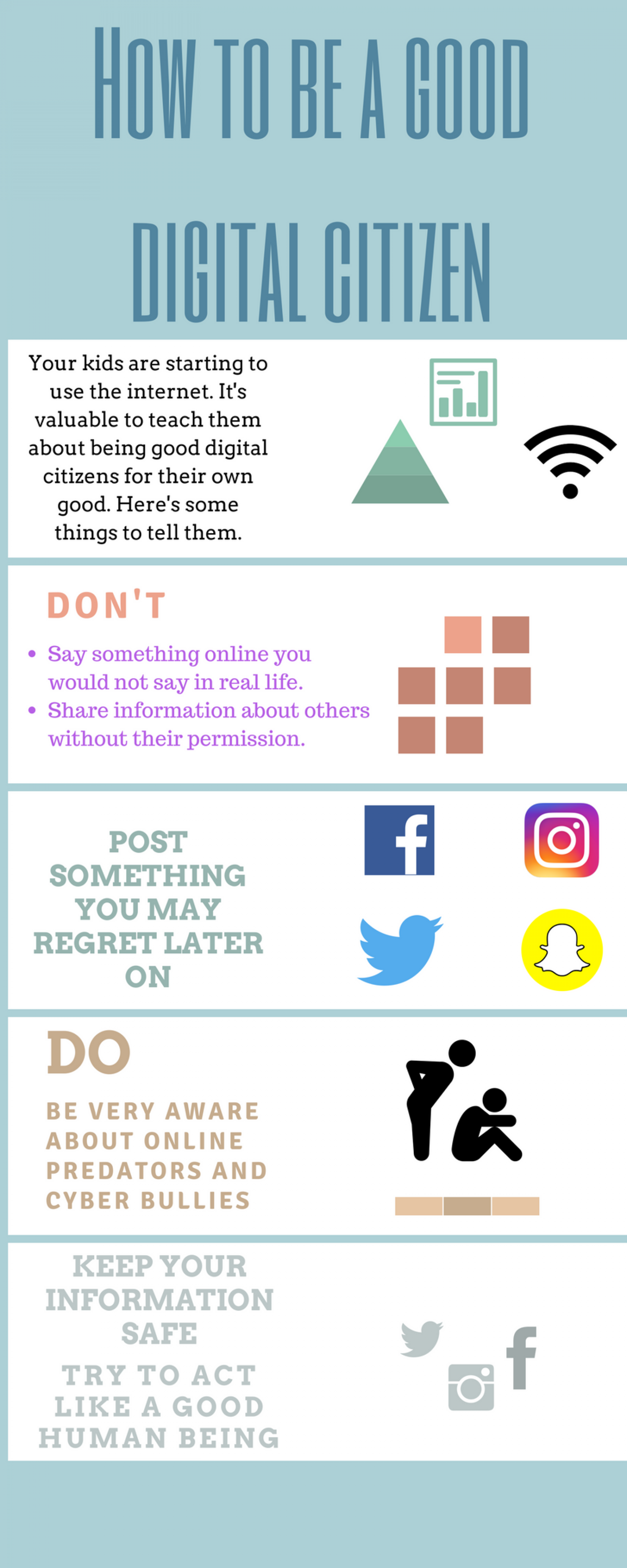 How To Be A Good Digital Citizen Infographic