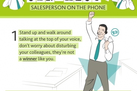 How to be an Obnoxious Salesperson on the Phone Infographic