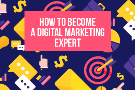 How to Become a Digital Marketing Expert Infographic