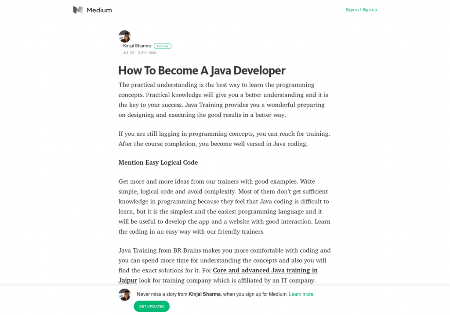 How To Become A Java Developer Infographic
