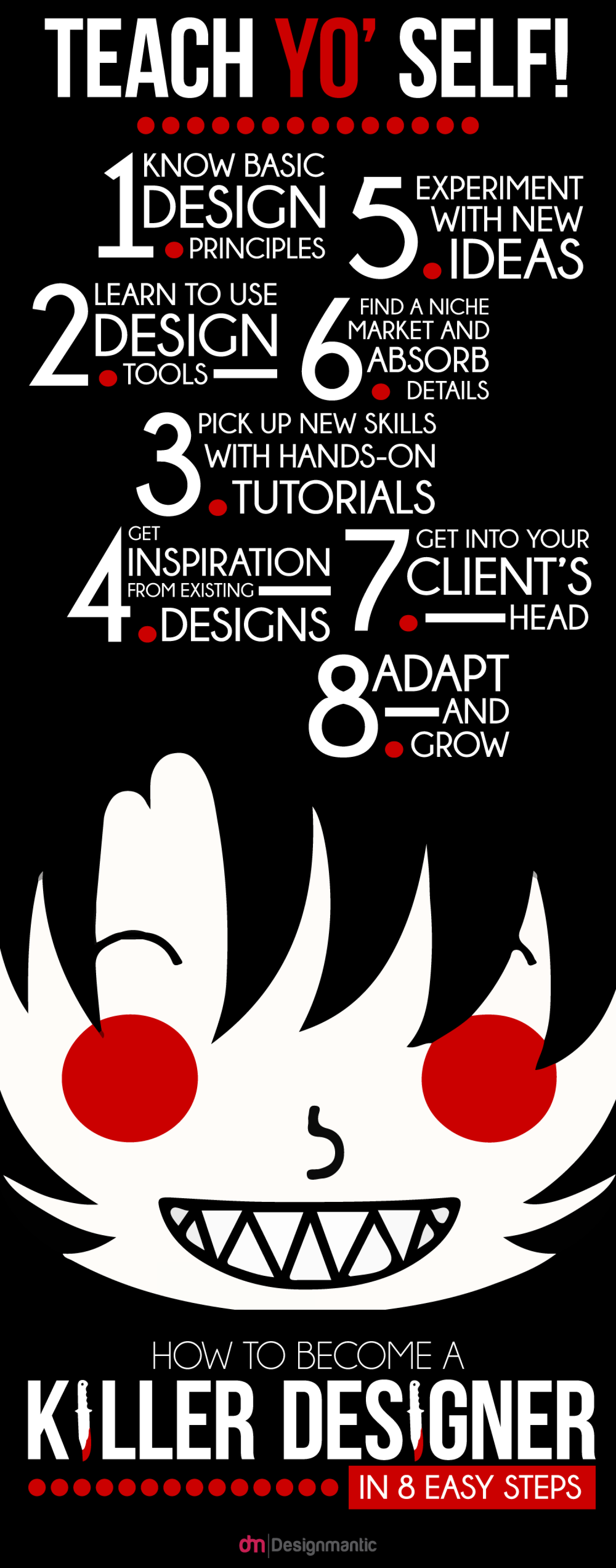 How To Become A Killer Designer In Eight Easy Steps? Infographic