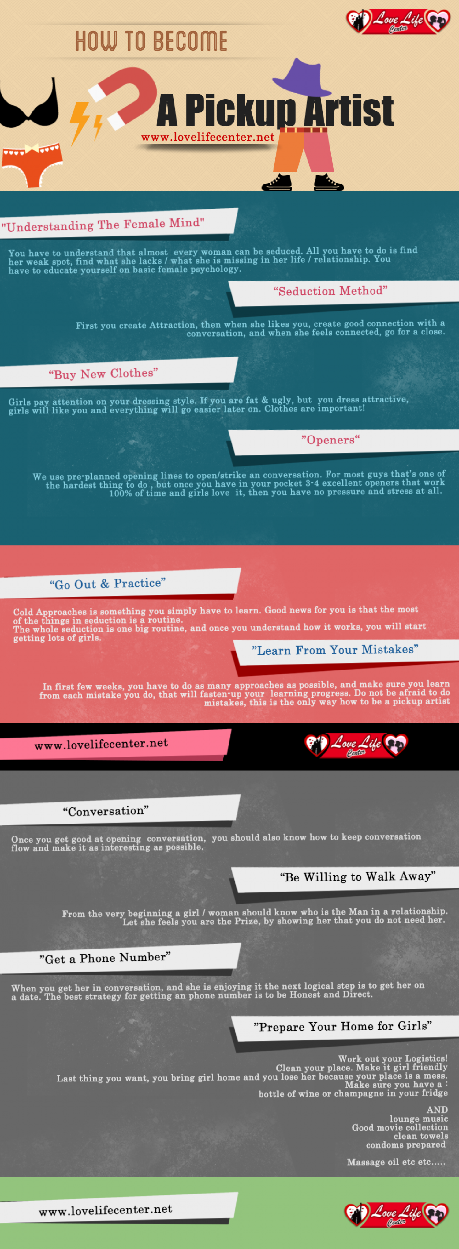 How to Become A Pickup Artist Infographic