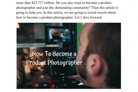 How To Become A Product Photographer Infographic