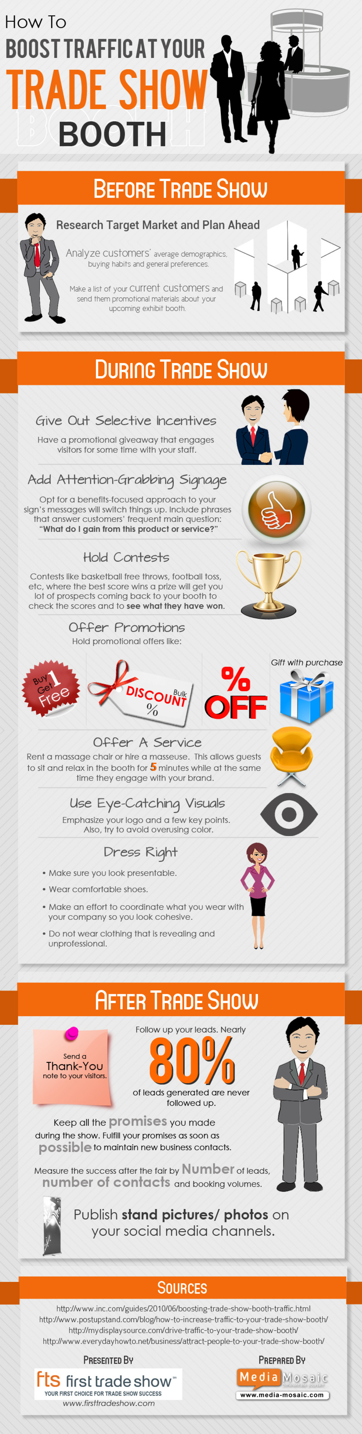 How to Boost Traffic at Your Trade Show Booth Infographic