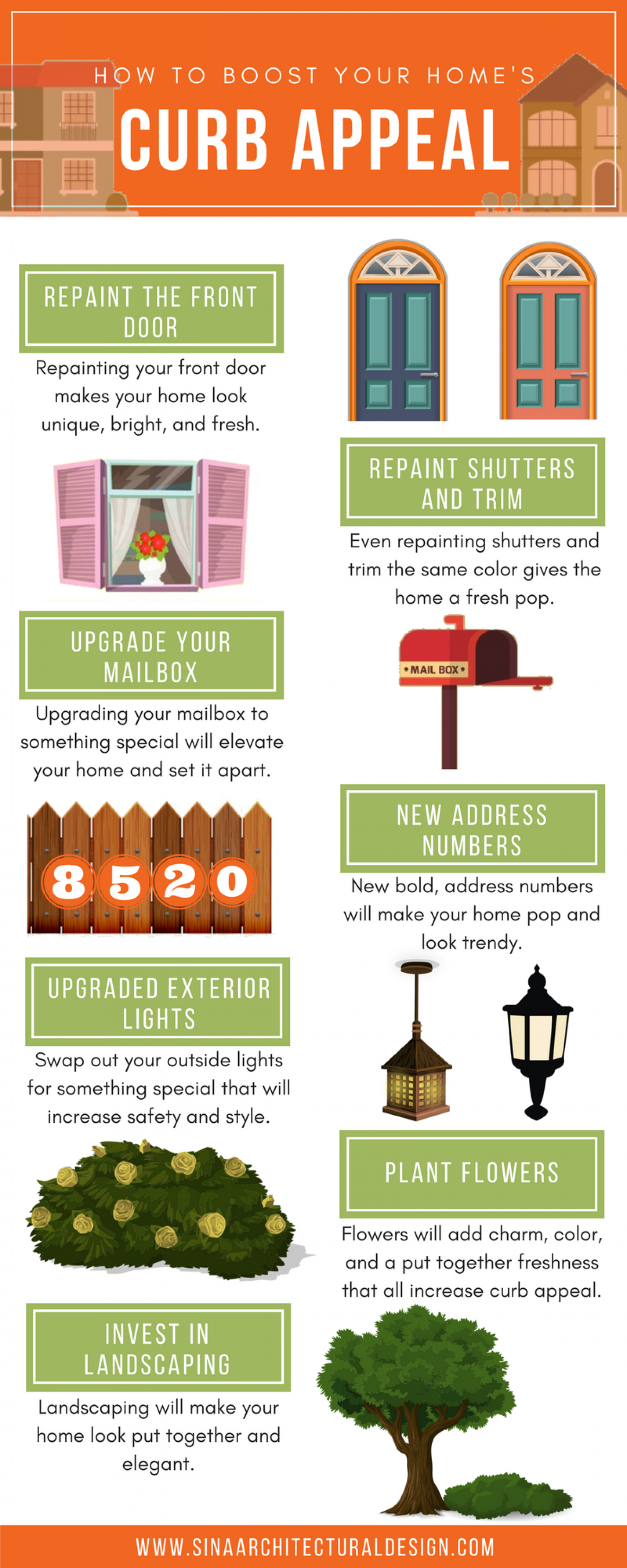 How to Boost Your Home's Curb Appeal Infographic
