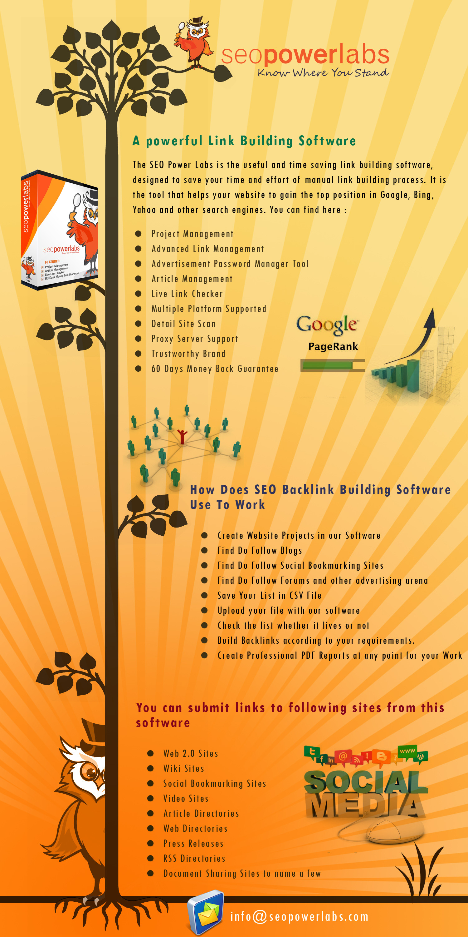 How to build backlinks using link building tools Infographic