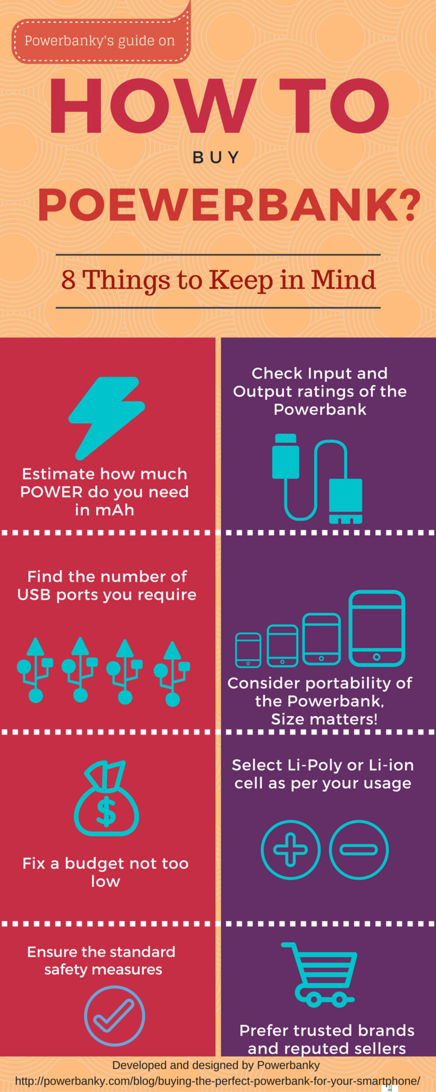 How to buy a Powerbank Infographic
