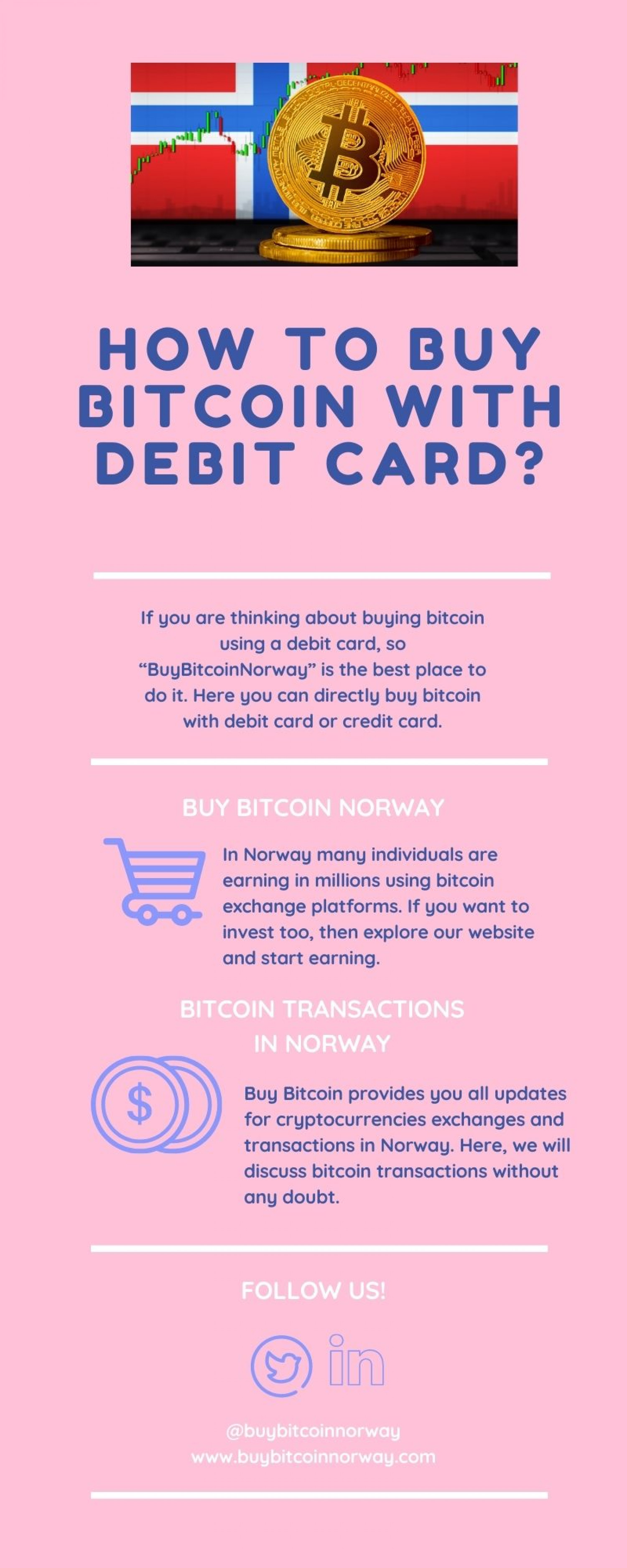 How to Buy Bitcoin With Debit Card Infographic