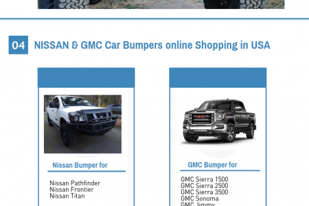 How to buy Cars Bumpers shop online in USA ?  Infographic