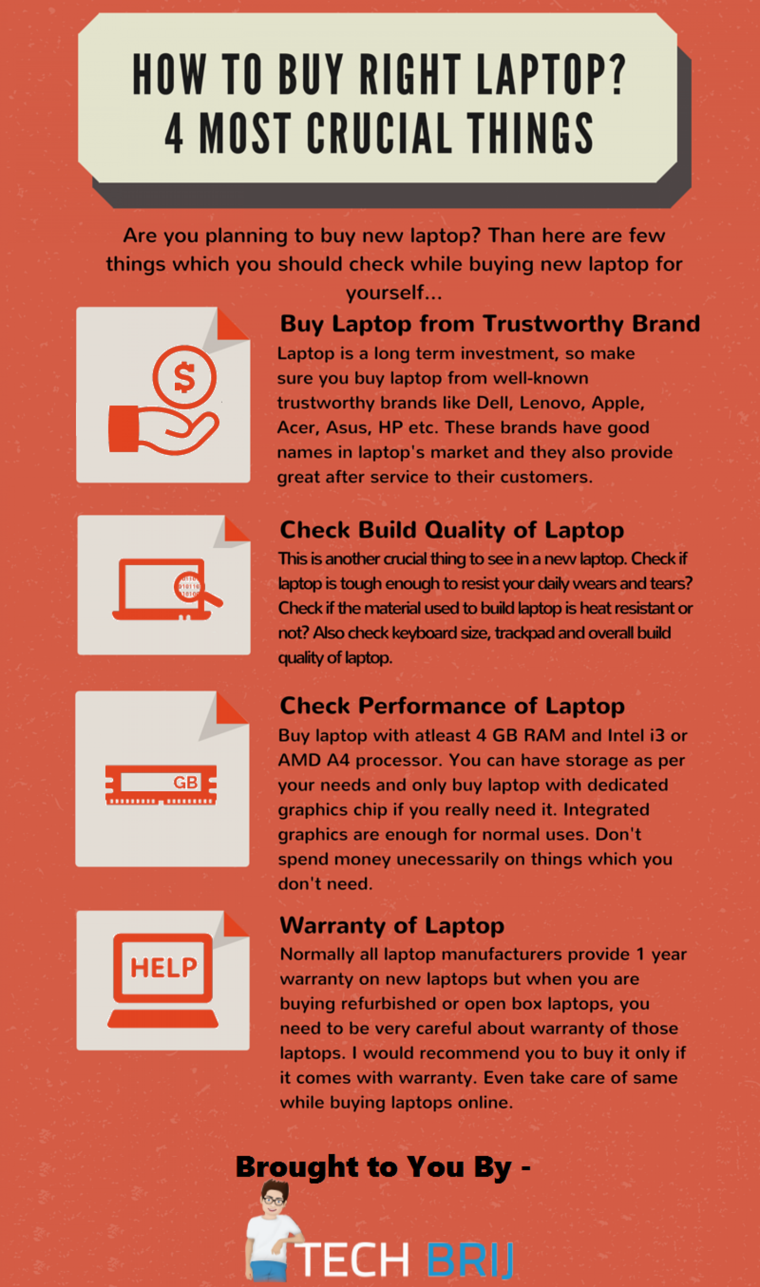 How to Buy Right Laptop? Infographic