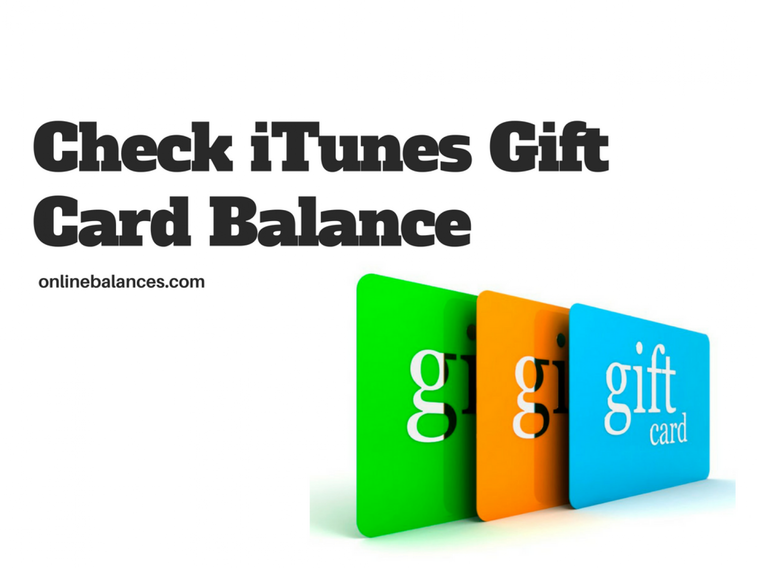 How to Check iTunes Gift Card Balances - Updated | You Can't Miss!!! Infographic