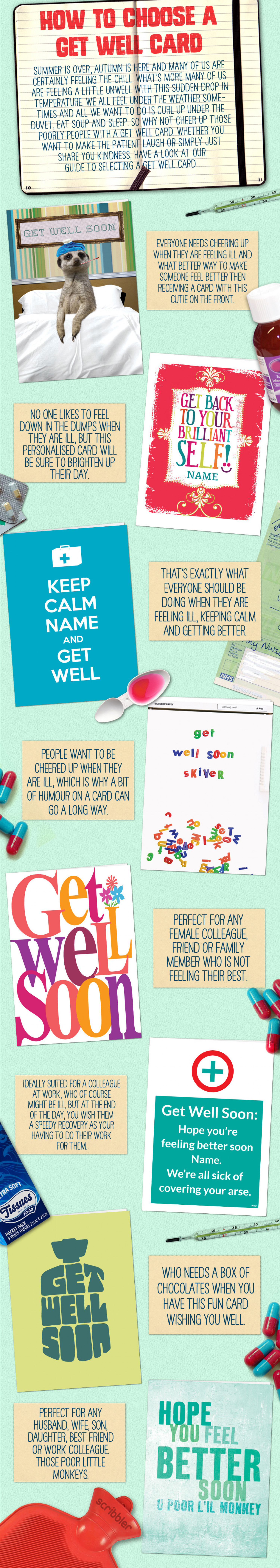 How to Choose a Get Well Soon Card Infographic