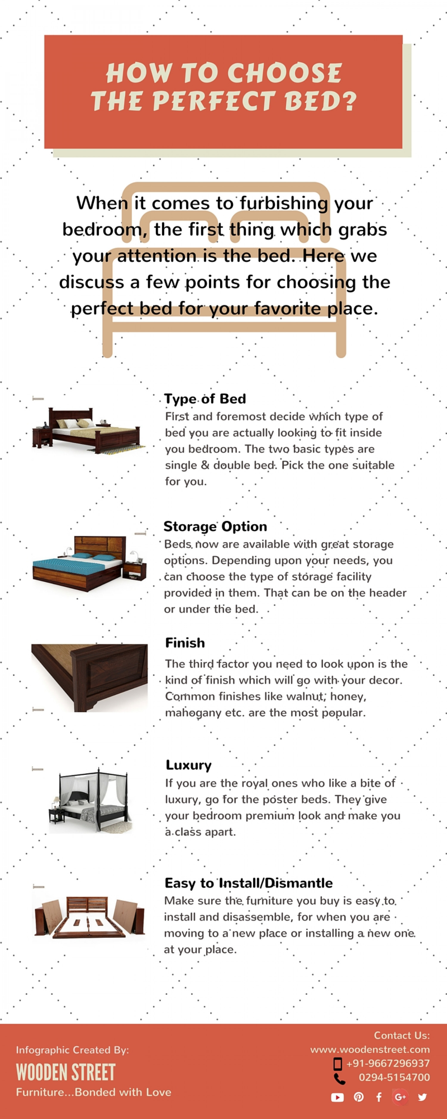 How to Choose a perfect Bed Infographic