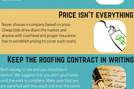 How to Choose a Right Roofing Contractor? Infographic