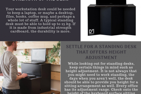 How To Choose A Standing Desk For Office Before Buying Infographic