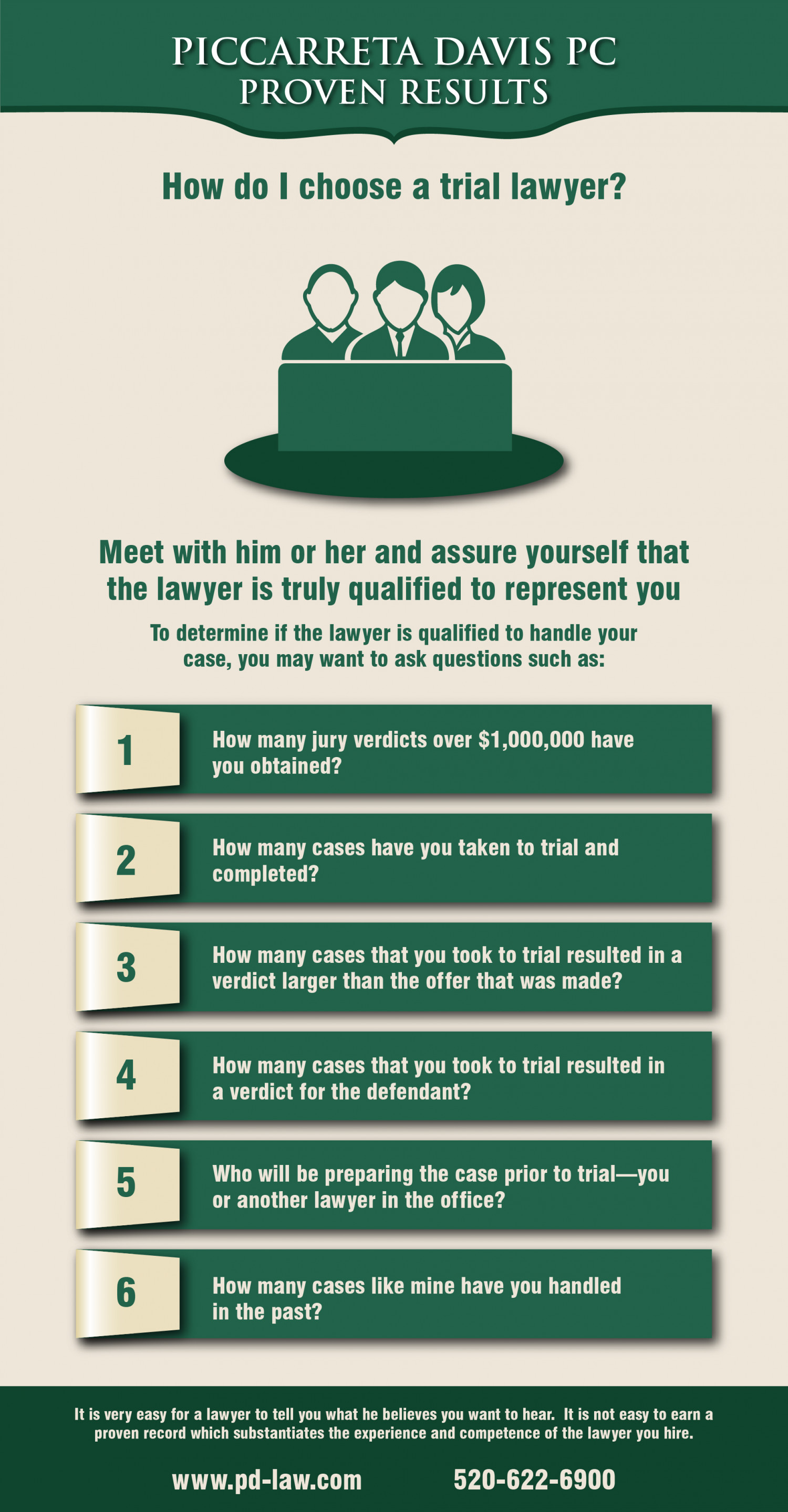 How to Choose a Trial Lawyer Infographic