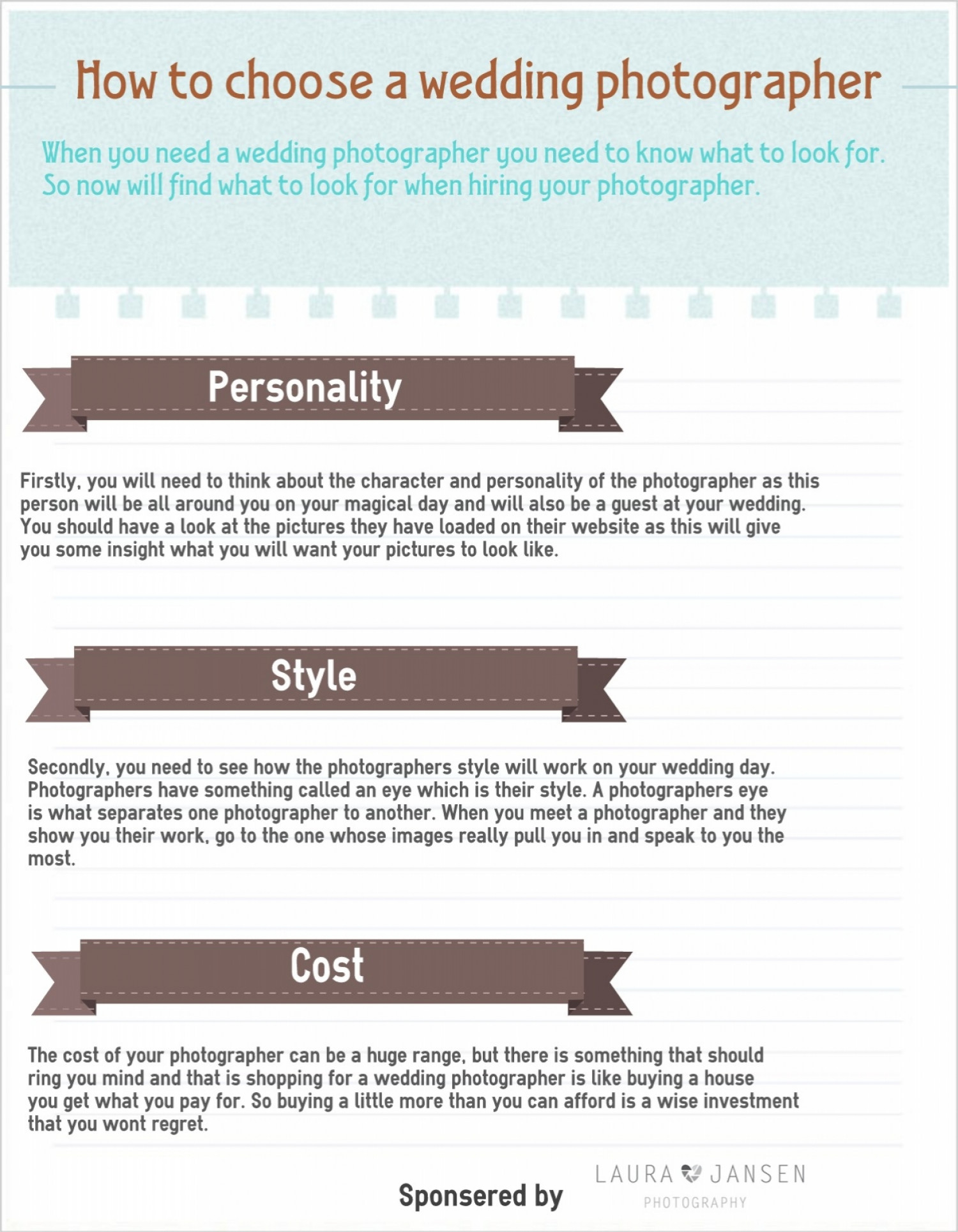 How to choose a wedding photographer visual how to choose a wedding photographer infographic junglespirit Choice Image