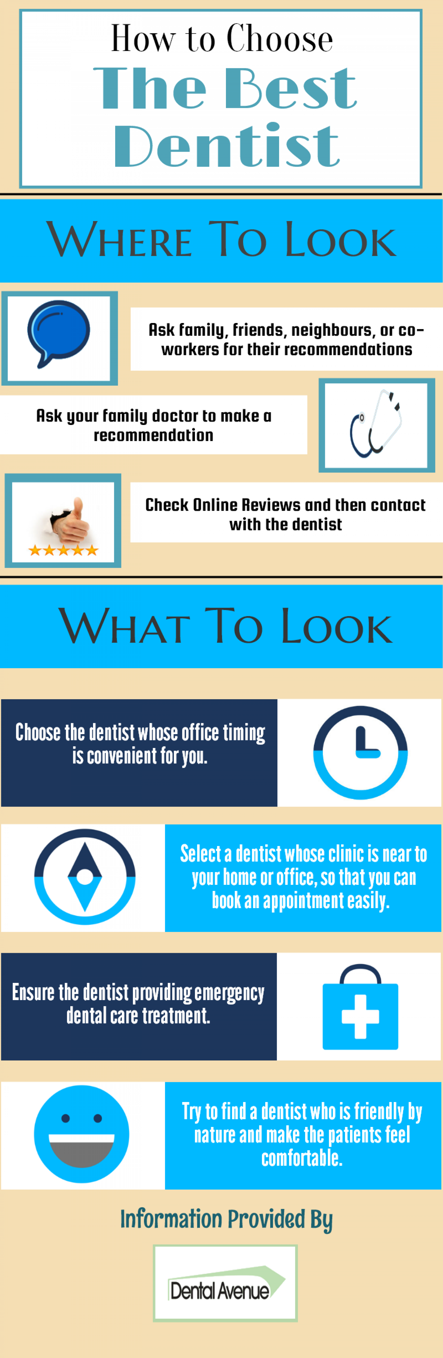 How To Choose The Best Dentist Infographic