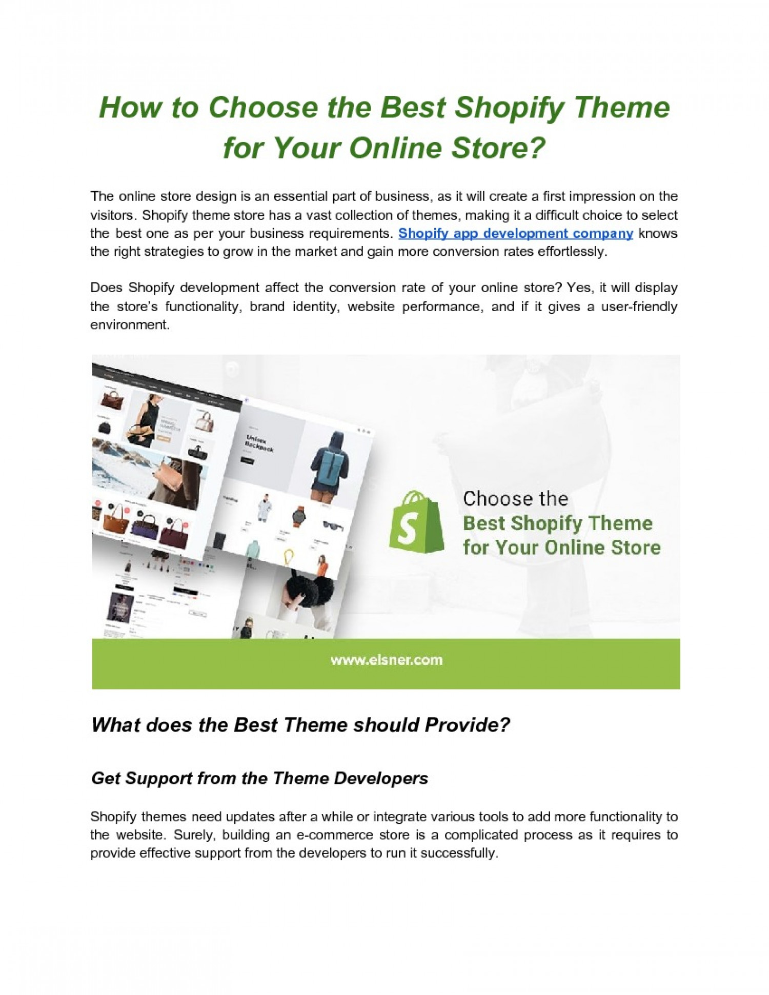 How to Choose the Best Shopify Theme for Your Online Store? Infographic