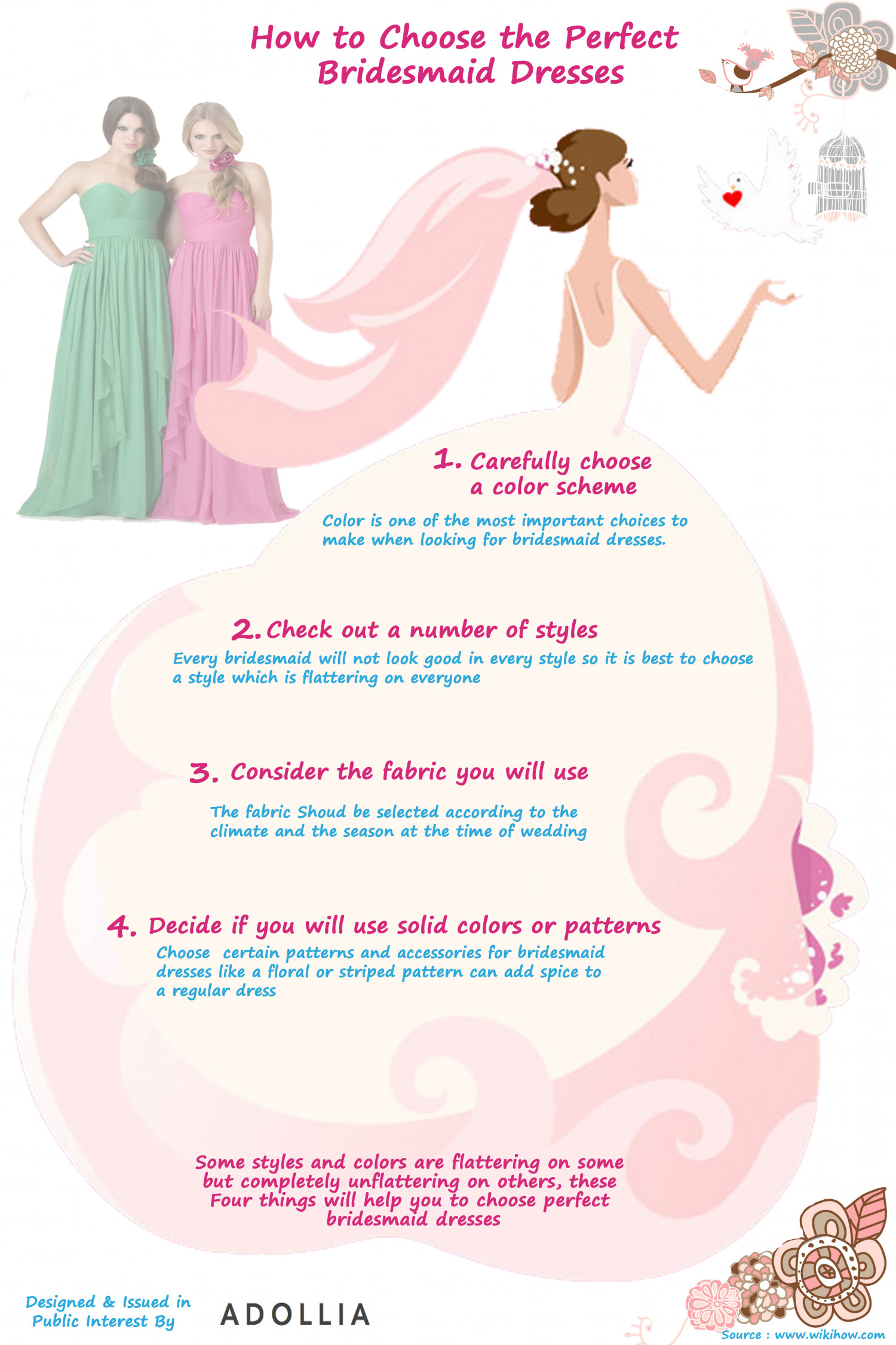 How to choose the perfect bridesmaid dresses visual how to choose the perfect bridesmaid dresses infographic ombrellifo Gallery