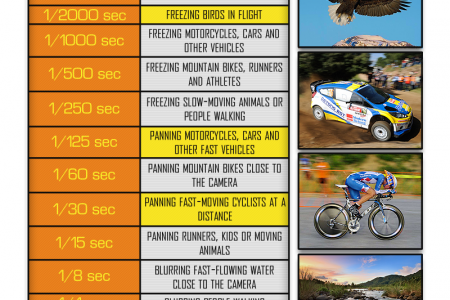 How To Choose The Right Shutter Speed Infographic