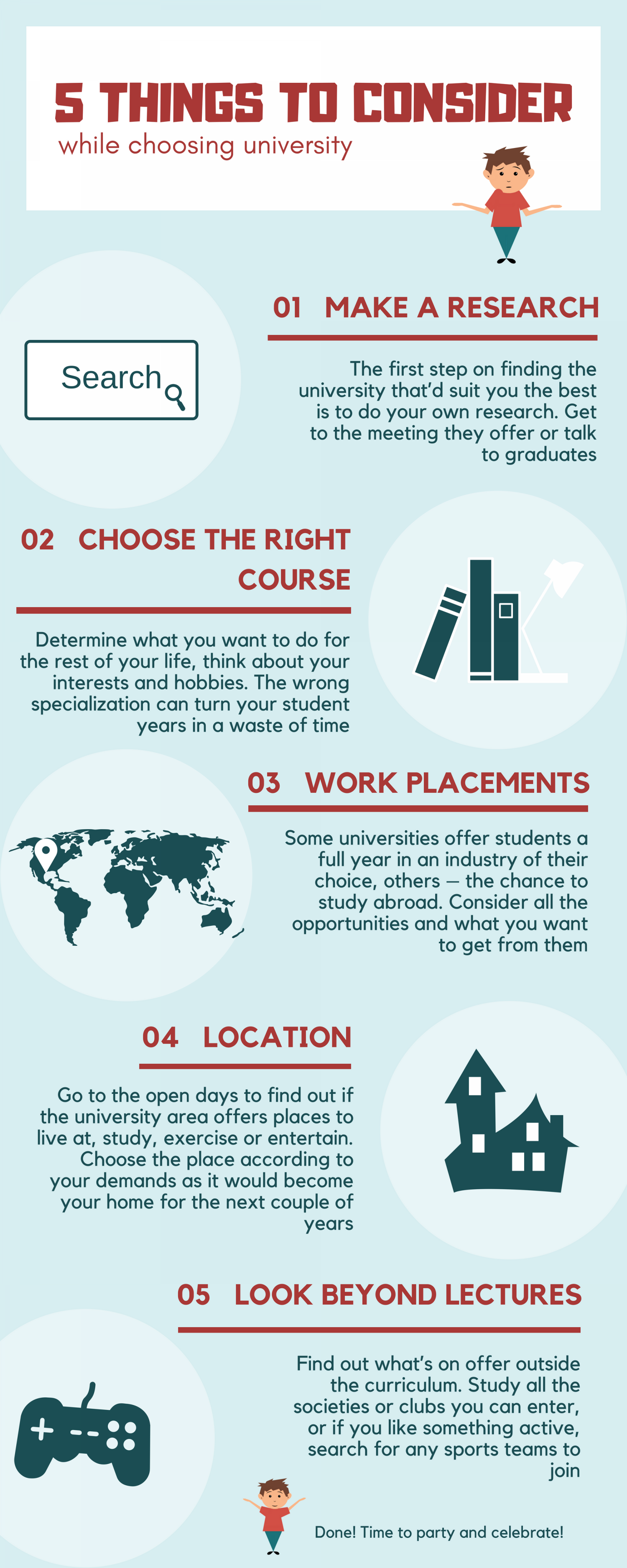 How to Choose the University? Five Things to Know  Infographic