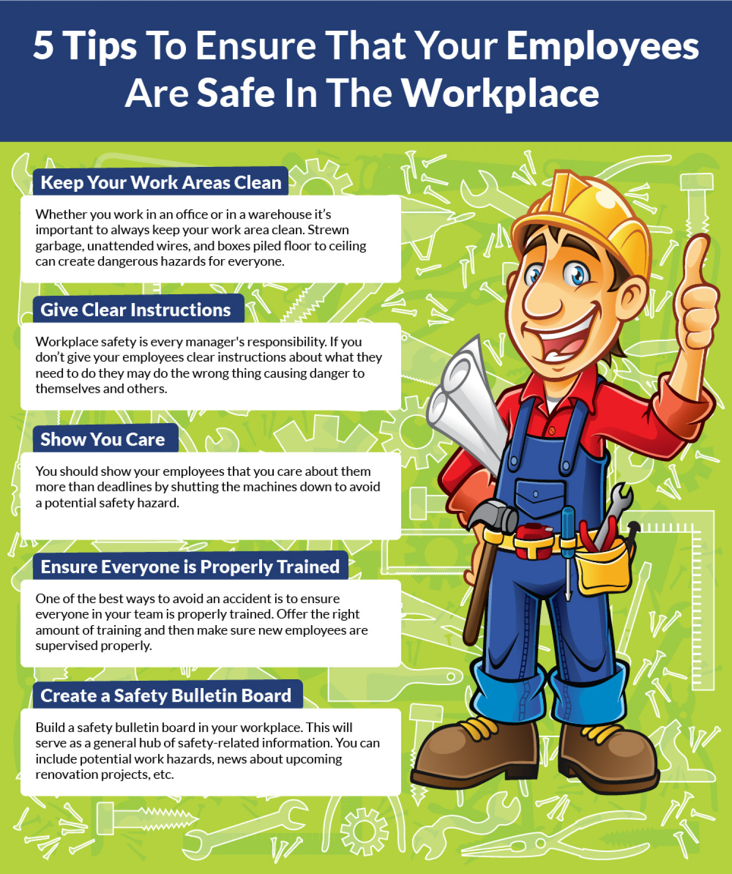 How To Comply With Employees Health And Safety Visual Ly