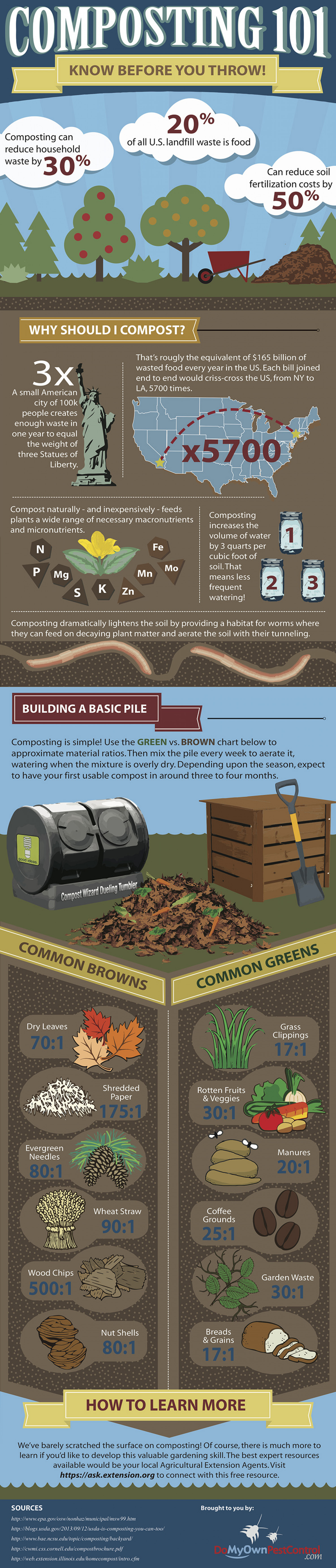 Composting 101 Infographic