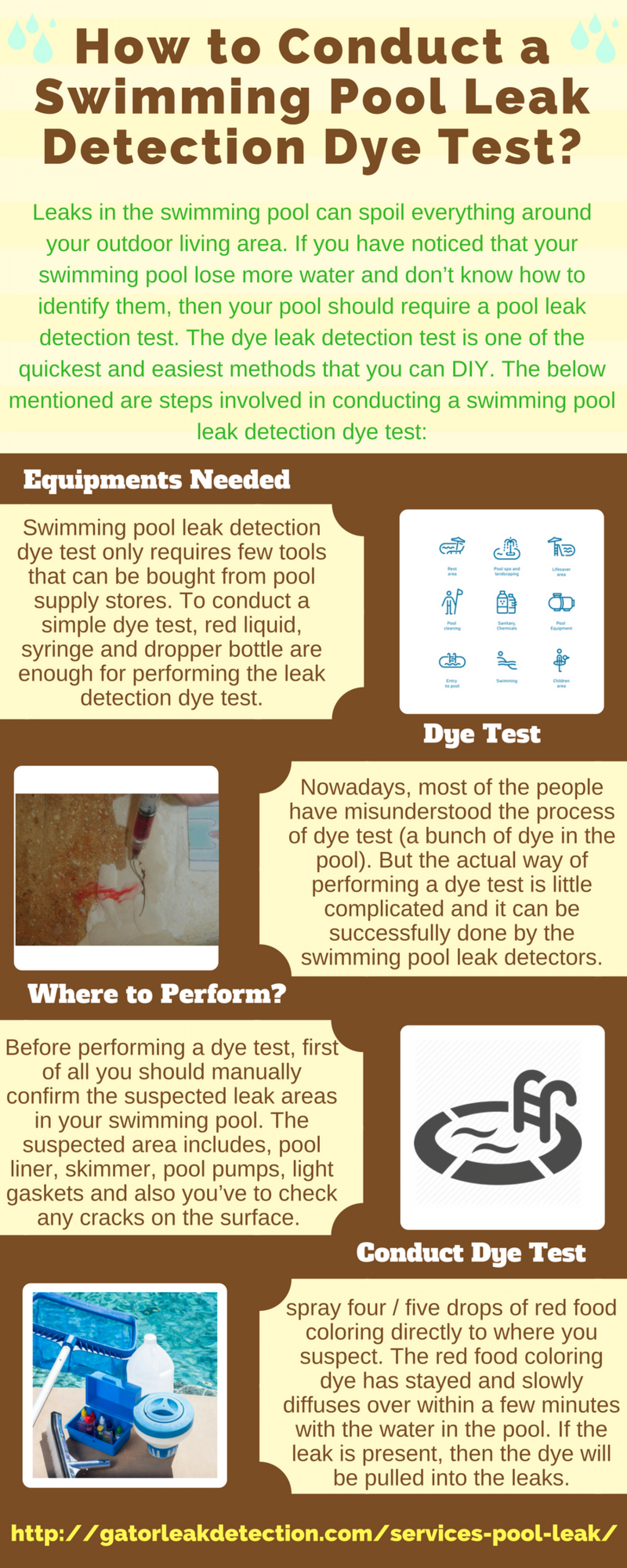 How to Conduct a Swimming Pool Leak Detection Dye Test?