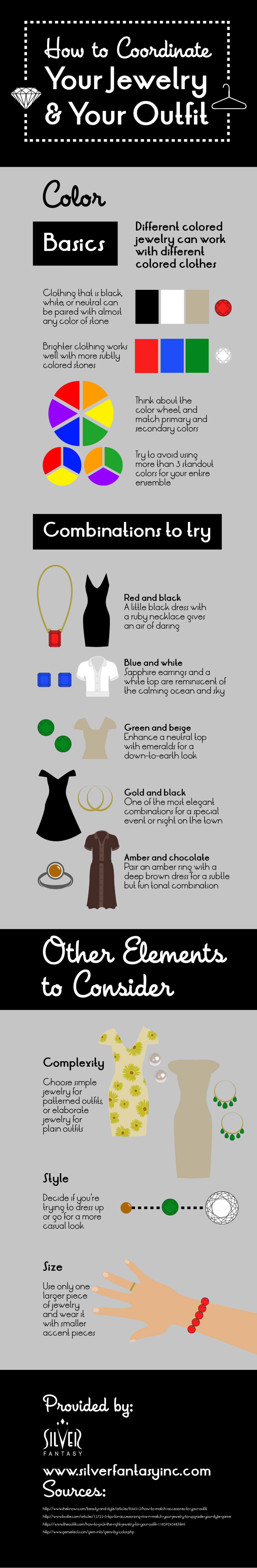 How to Coordinate Your Jewelry and Your Outfit Infographic